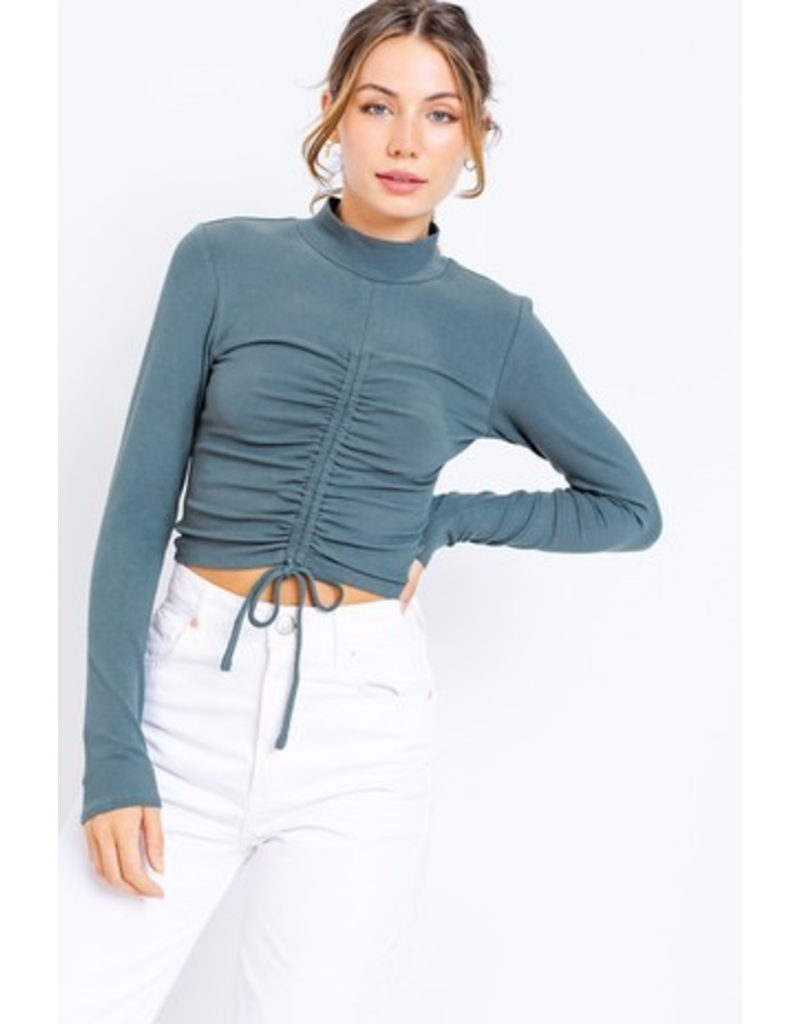 Tops 66 Talk Teal To Me Ruched Top