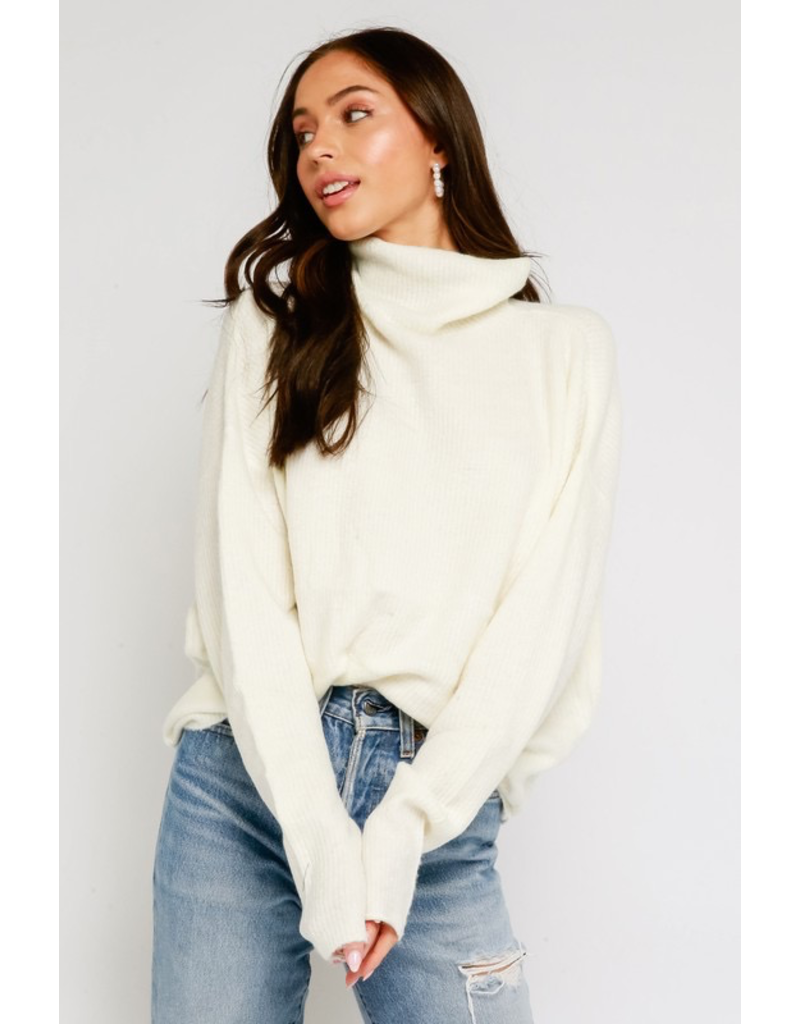 Tops 66 Fuzzy Turtle Neck Sweater