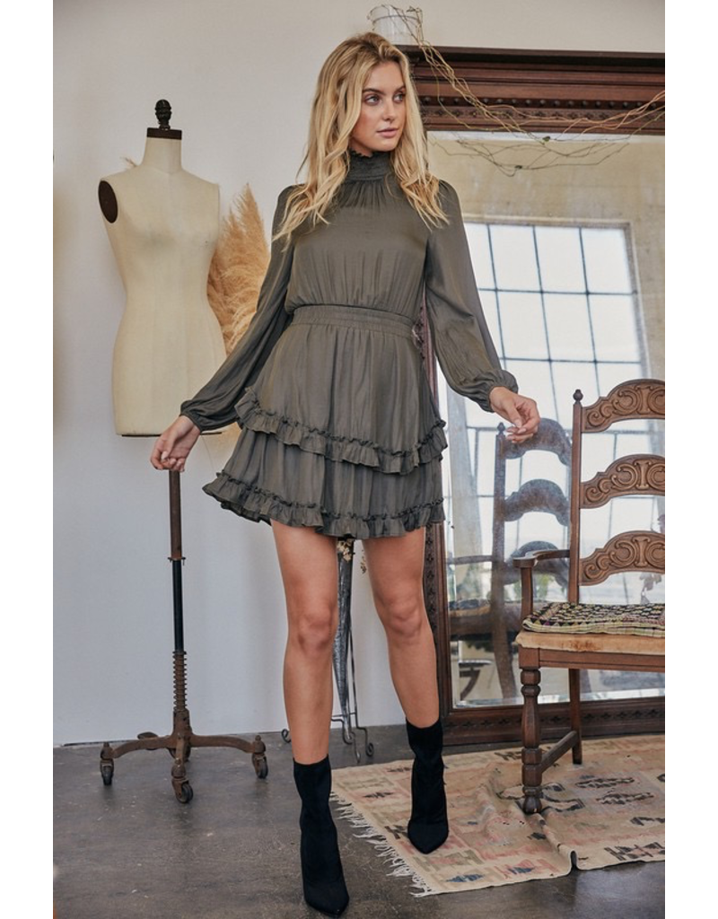Dresses 22 The Call Of Fall Olive Dress