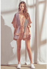 Rompers 48 Fall With Me Colorful Pattern Romper