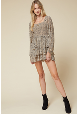 Rompers 48 Smocked Leopard Taupe Romper