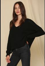 Tops 66 Full On Fall Black Sweater