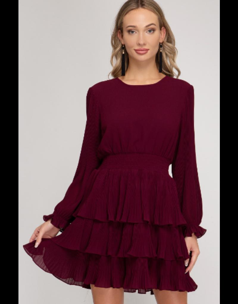 Dresses 22 Capture The Moment Plum Ruffle Dress