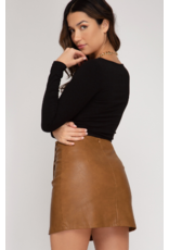 Skirts 62 Cool It Down Leather Skort