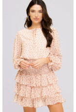 Dresses 22 Falling For It Floral Smock Ruffle Dress