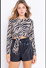 Tops 66 Wild About It Zebra Top