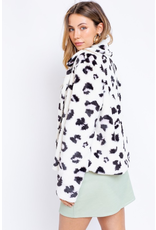 Outerwear Soft and Fuzzy Leopard Coat