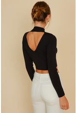Tops 66 Mock Neck and Open Back Sweater