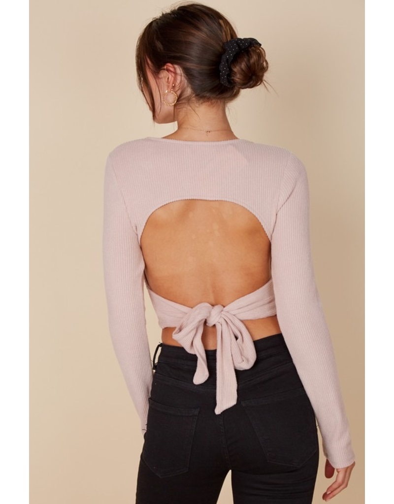 Tops 66 Wrap It Up Open Back Sweater