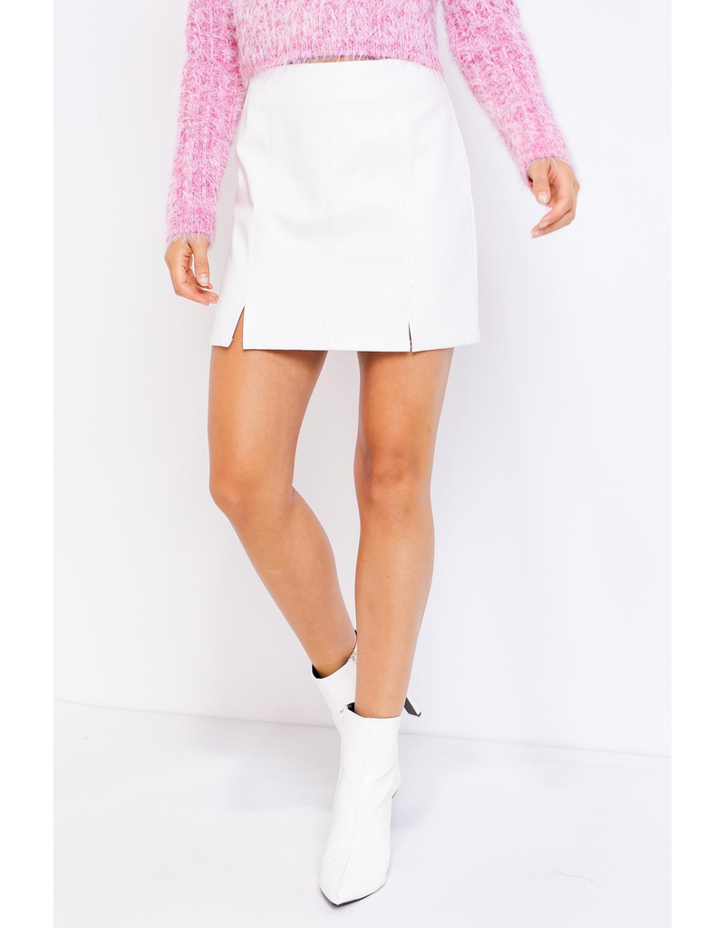 Skirts 62 Best Days White Leather Skirt
