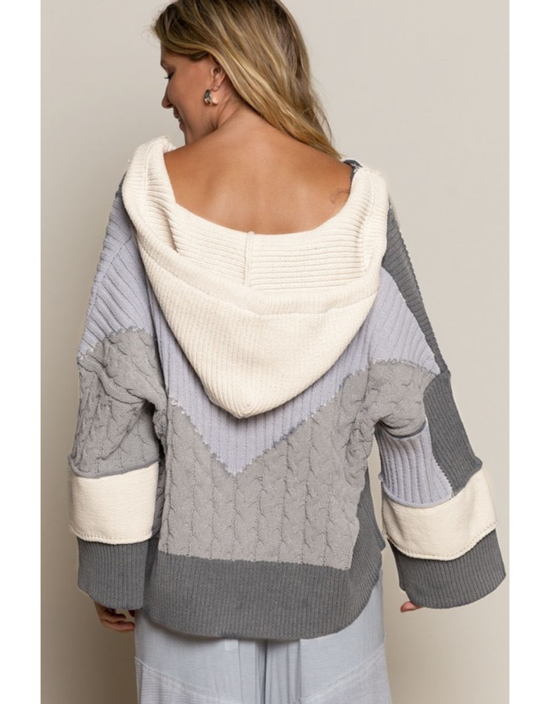 Tops 66 Right Now Color Block Sweater