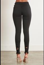 Pants 46 Distressed Black Skinny Denim