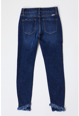 Pants 46 KANCAN Fringe Bottom Distressed Dark Wash Denim