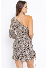 Dresses 22 One Shoulder Spotted Leopard Dress