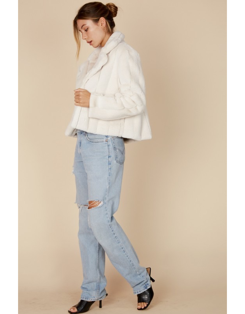 Outerwear Fuzzy Feelings Ivory Coat