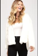 Outerwear Fuzzy WInter White Coat