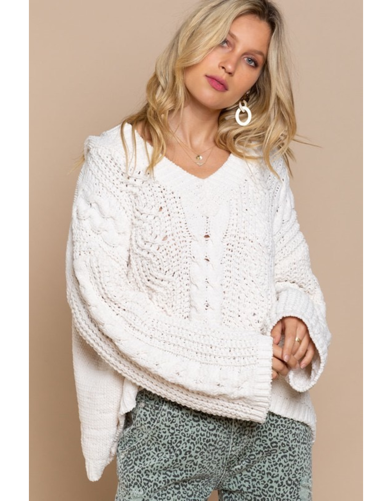 Tops 66 Creamy Cable Knit Sweater