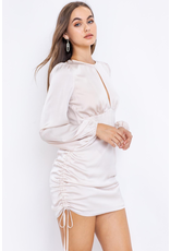 Dresses 22 Satin Dream Side Ruched Champagne Dress