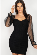 Dresses 22 Sheer Delightful Mesh Dot Dress