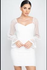 Dresses 22 Sheer Delightful Mesh Dot Dress