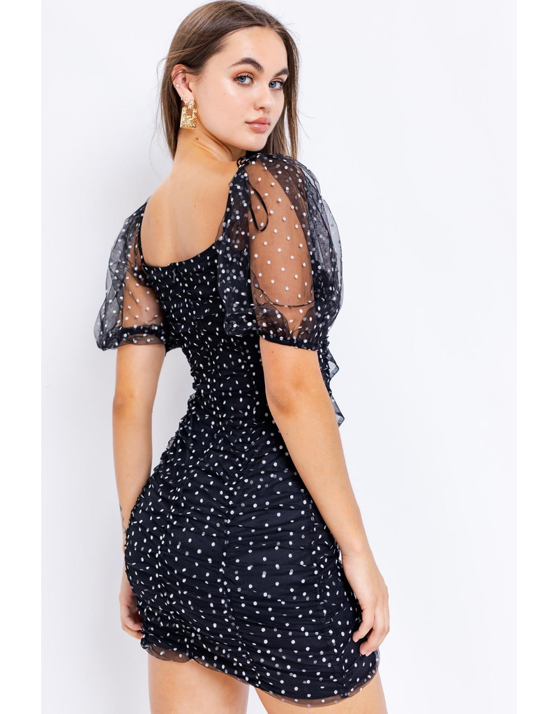 Dresses 22 Hello Dottie Mesh LBD