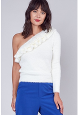 Tops 66 Fuzzy Fun One Shoulder Sweater