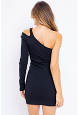 Dresses 22 Right Now One Shoulder LBD