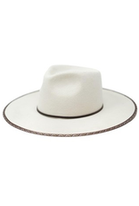 Accessories 10 Ivory Wool Adjustable Rancher With Trim Detail