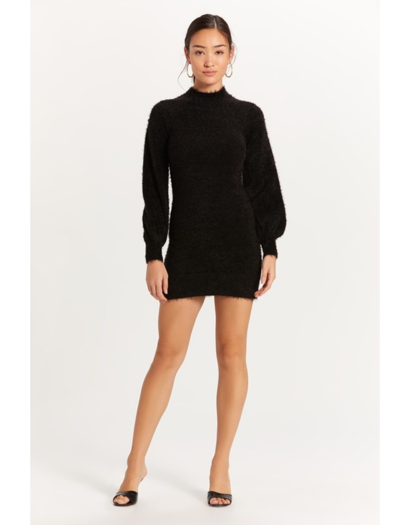 Dresses 22 Fuzzy Black Sweater Dress
