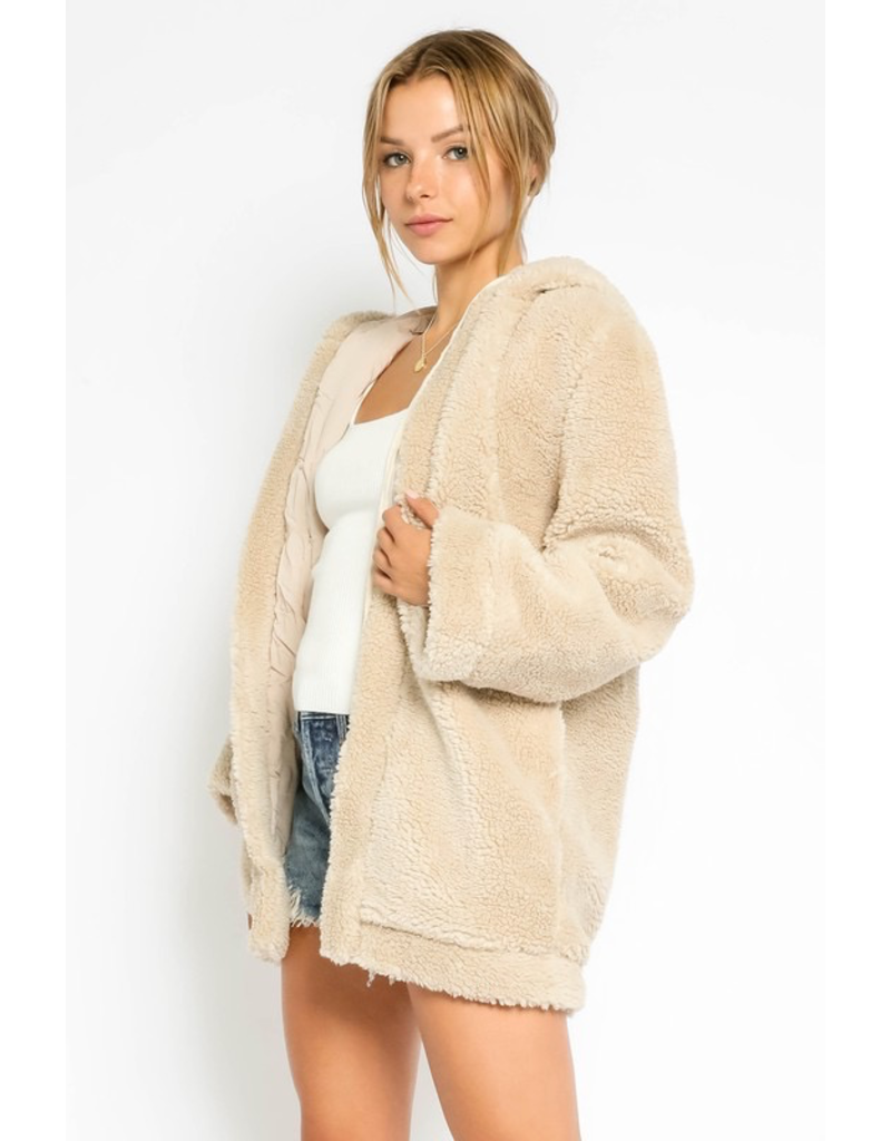 Outerwear Fuzzy Teddy Jacket