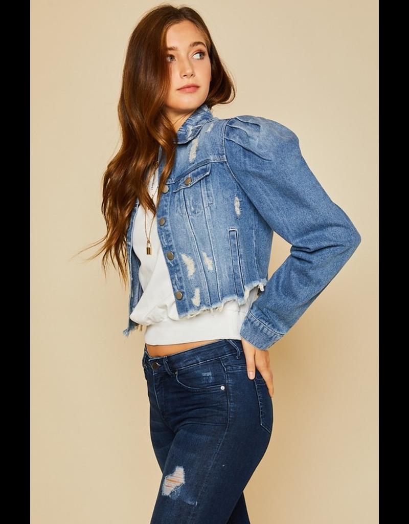 Outerwear Crop Denim Jacket