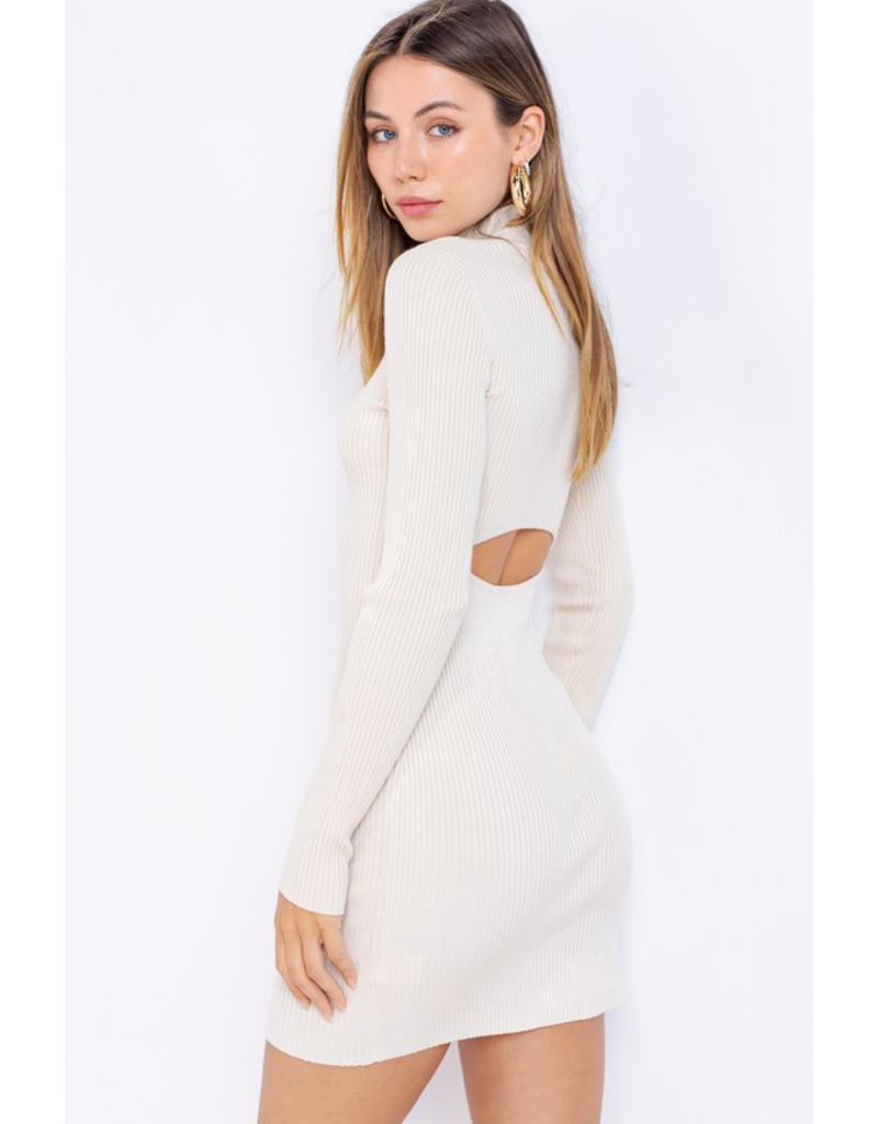 Dresses 22 Cream Open Back Sweater Dress