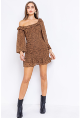 Dresses 22 One Shoulder Leopard Smock Dress
