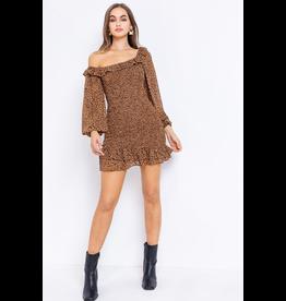 Dresses 22 One Shoulder Leopard Smock Dress