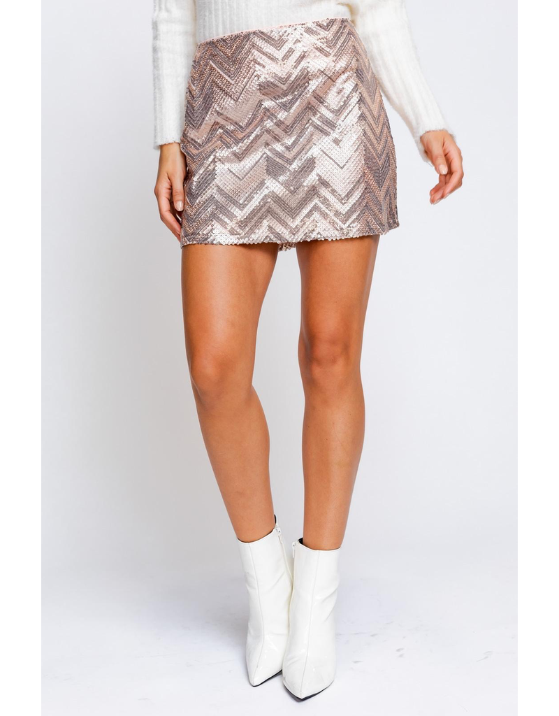 Skirts 62 Blush Sequin Party Skirt