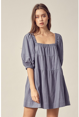 Dresses 22 You Are Such A Baby Doll Steel Blue Dress