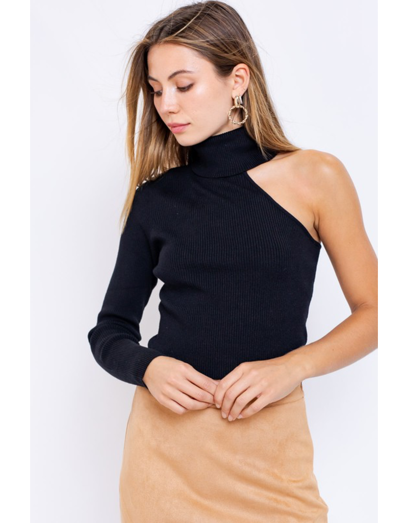 Tops 66 Black Open Shoulder Sweater
