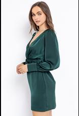 Dresses 22 Festive Fun Spruce Satin Party Dress