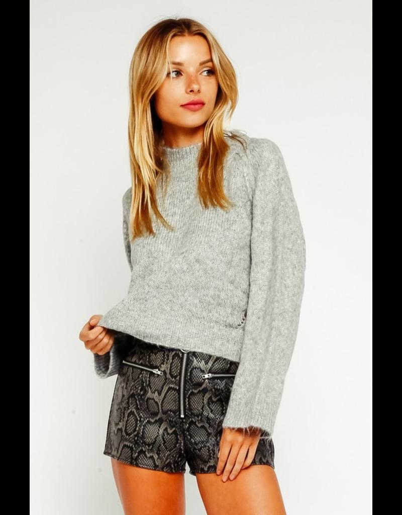 Tops 66 Fuzzy Mock Neck Sweater