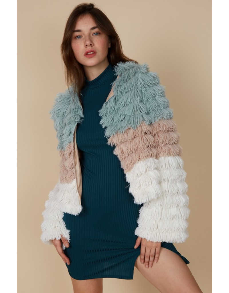 Outerwear Winter Party Fuzzy Coat
