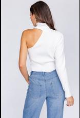 Tops 66 Ivory Open Shoulder Sweater