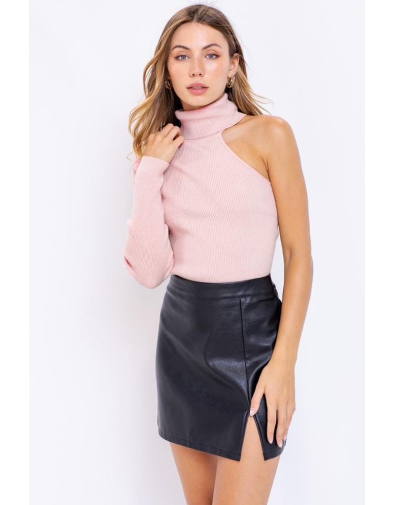 Tops 66 Blush Open Shoulder Sweater