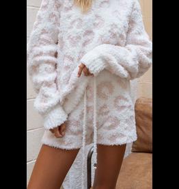 Shorts 58 Keep It Cozy White/Pink Leopard Lounge Shorts