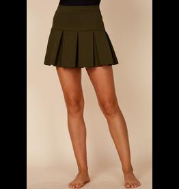 Default Pleated Olive Tennis Skirt