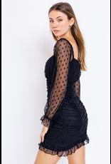 Dresses 22 Super Star Black Ruched Dress