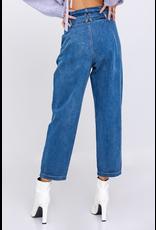 Pants 46 PaperBag Denim Tie Front Pants