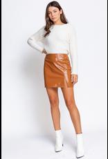 Skirts 62 Camel Leather Skirt