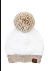 Accessories 10 Two Tone Sherpa Pom Pom Hat