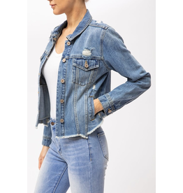 Outerwear KanCan Distressed Denim Jacket
