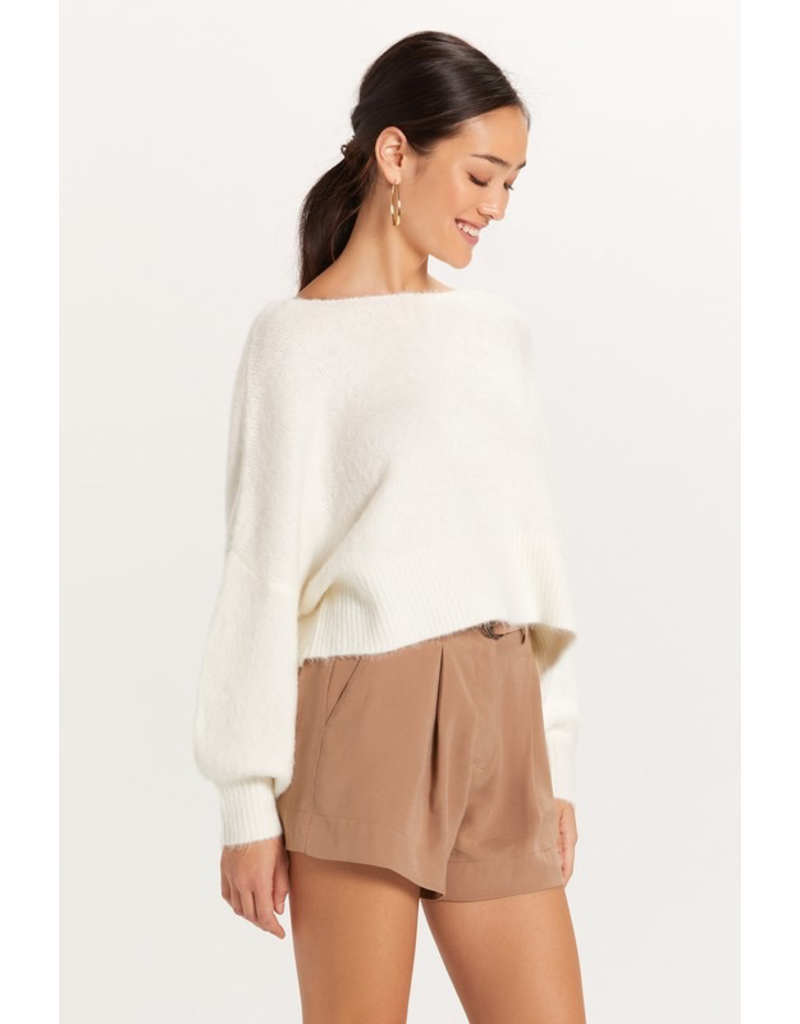 Tops 66 Fuzzy Off Shoulder Sweater